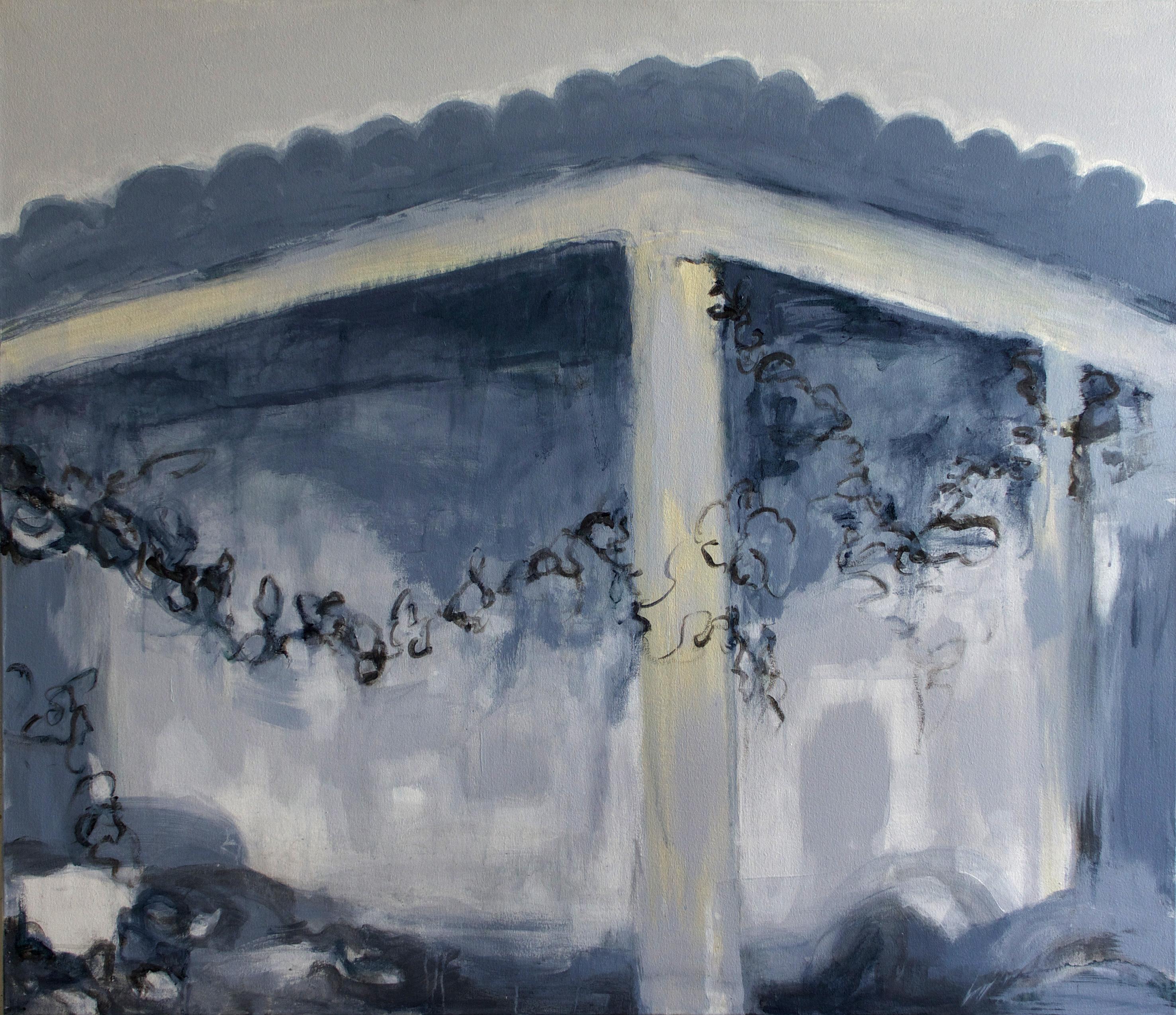 Runoilijan talo, 113x130cm, akryyli 2012