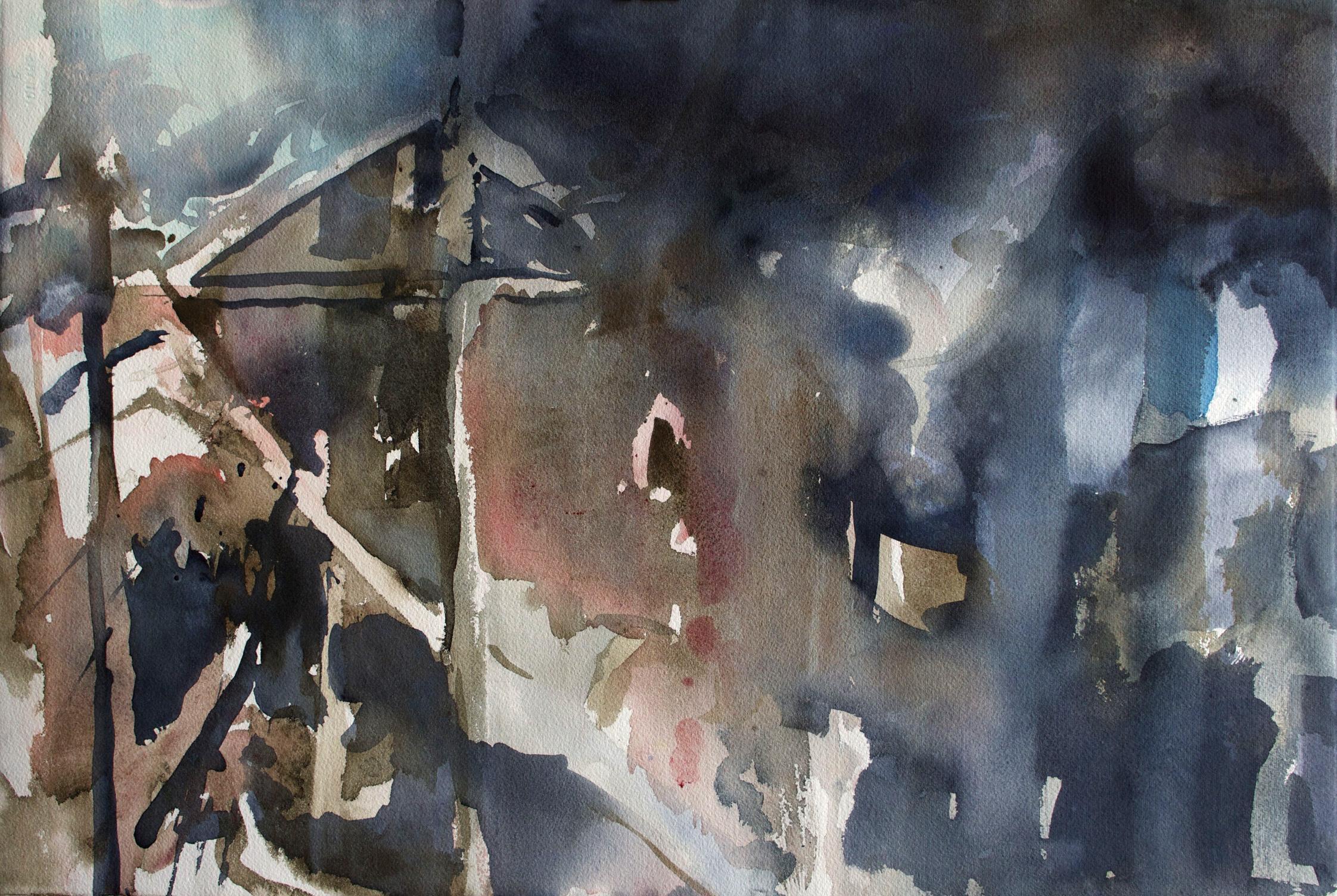Arkki 37 x 55 cm, akvarelli 2013