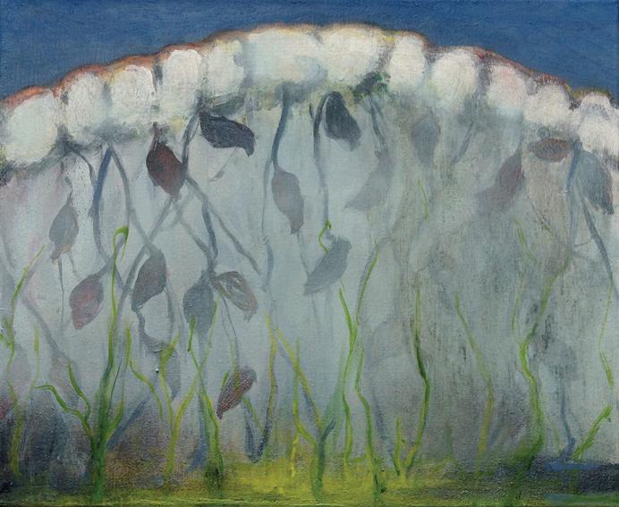 Kasvihuone keväällä 2017, 45 x 55 cm
