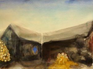 Pekkalan saha, 55x75cm, akvarelli 2015