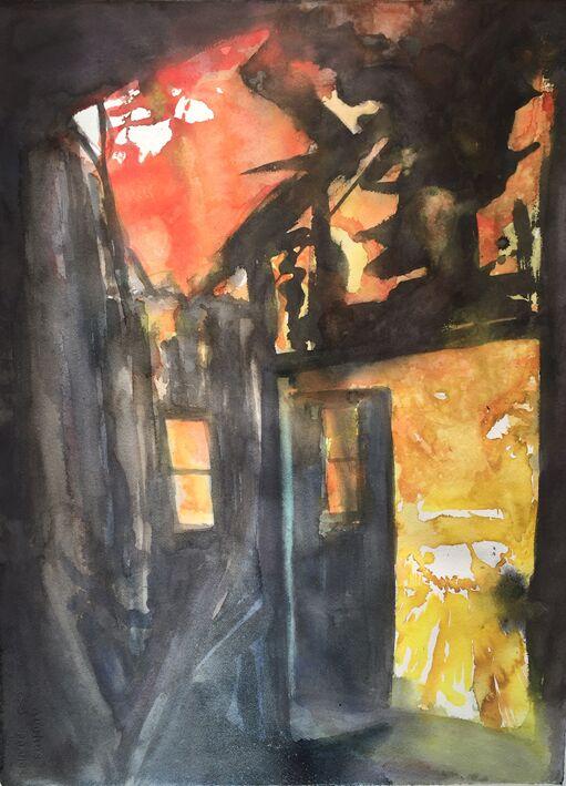 Auringonnousun talo 2016, 75 x 55 cm