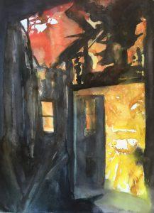 Krista Kortelainen, akvarelli, 75x55cm, 2016