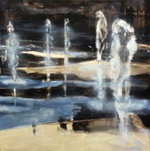Krista Kortelainen, Giselle 2017, akryyli, 130 x 130 cm